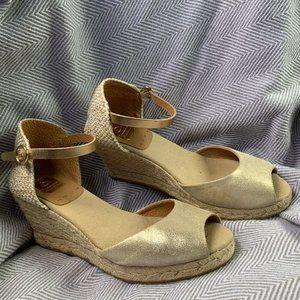 KANNA - Wedge Jute Woven Espadrille Sandal